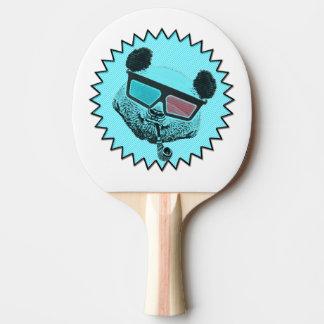 Funny retro panda ping pong paddle