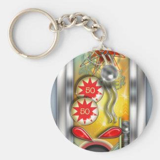 Funny Retro Pinball Machine Key Ring