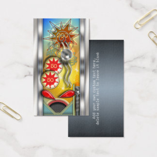 Funny Retro Pinball Machine Personalized Business Card