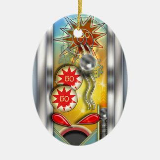 Funny Retro Pinball Machine Personalized Christmas Ornament