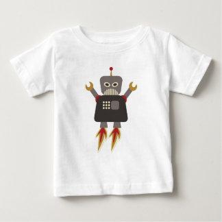 Funny Retro Rocket Robot Baby T-Shirt
