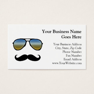 Funny Retro Sunglasses with Moustache Business Card