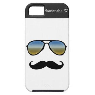 Funny Retro Sunglasses with Moustache iPhone 5 Cover
