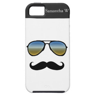 Funny Retro Sunglasses with Moustache Case For The iPhone 5