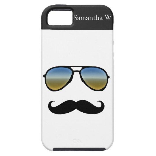 Funny Retro Sunglasses with Moustache Case For The