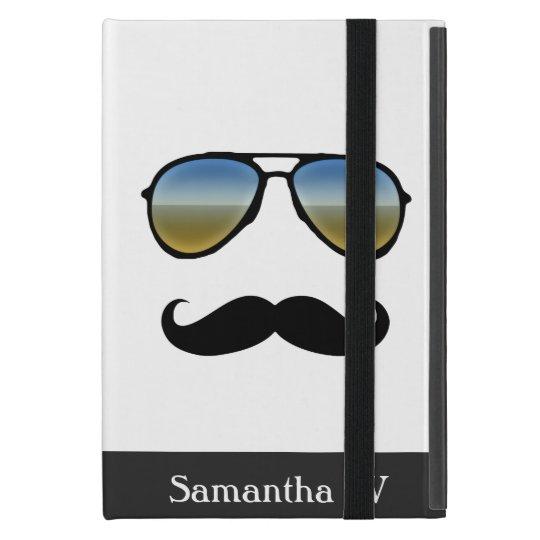 Funny Retro Sunglasses with Moustache Cover For iPad