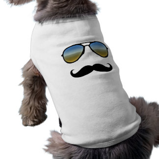 Funny Retro Sunglasses with Moustache Shirt