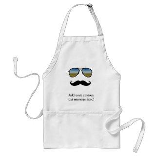 Funny Retro Sunglasses with Moustache Standard Apron