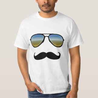 Funny Retro Sunglasses with Moustache T-Shirt
