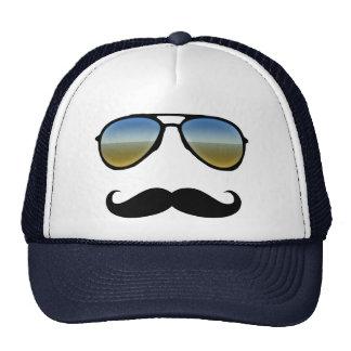 Funny Retro Sunglasses with Moustache Trucker Hat