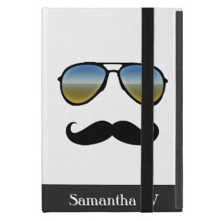 Funny Retro Sunglasses with Mustache iPad Mini Case