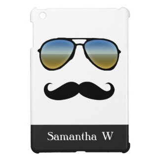 Funny Retro Sunglasses with Mustache iPad Mini Cases