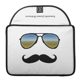 Funny Retro Sunglasses with Mustache Sleeve For MacBooks