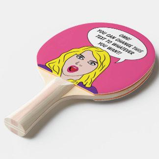 FUNNY RETRO WOMAN custom ping pong paddle