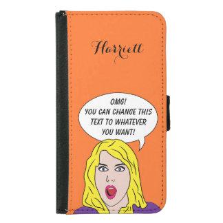 FUNNY RETRO WOMAN custom wallet cases