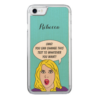 FUNNY RETRO WOMAN phone Carved iPhone 8/7 Case