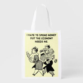 funny reusable tote bag
