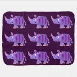Funny Rhino Art Baby Blanket