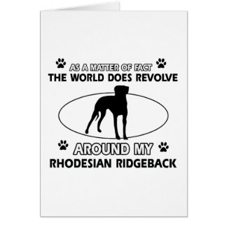 funny RHODESIAN RIDGEBACK designs Greeting Card