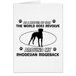funny RHODESIAN RIDGEBACK designs Card