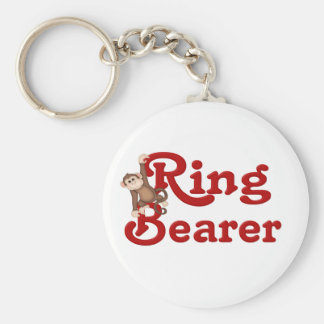 Funny Ring Bearer Basic Round Button Key Ring