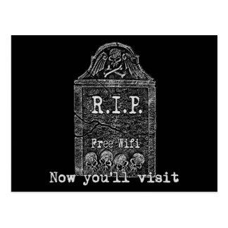 Funny RIP Postcard