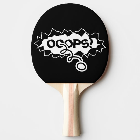 Funny ripped hole table tennis ping pong paddles