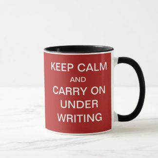 Funny Risks Underwriting Quote Underwriter Joke Mug