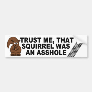 Funny road kill joke bumper sticker