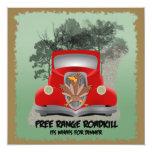 """Funny Roadkill Party Invitation 5.25"""" Square Invitation Card"""