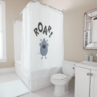 Funny Roar Mouse Design Shower Curtain