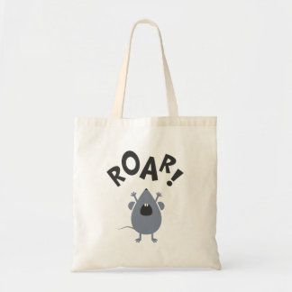 Funny Roar Mouse Design Tote Bag