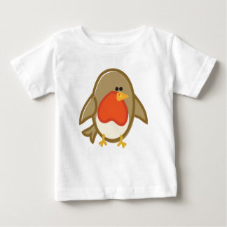 Funny Robin on White Baby T-Shirt