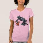 Funny robot and cat t-shirt design