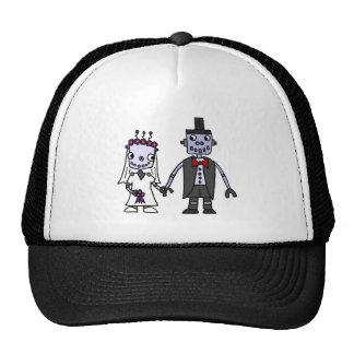 Funny Robot Bride and Groom Wedding Cap