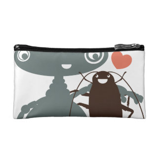 Funny robot cockroach apocolypse friendship makeup bags
