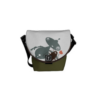 Funny robot cockroach apocolypse friendship messenger bags