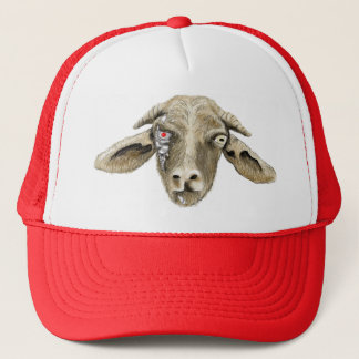 Funny Robot Goat Art Science Fiction Animal Design Trucker Hat