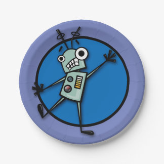 FUNNY ROBOT PAPER PLATE