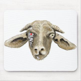 Funny robotic goat novelty art computer mouse mat