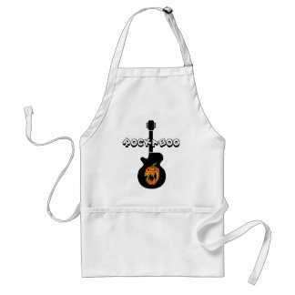 Funny rock halloween apron