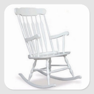FUNNY ROCKING CHAIR OVER THE HILL STICKER