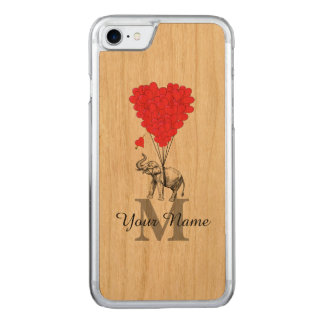 Funny romantic elephant carved iPhone 8/7 case