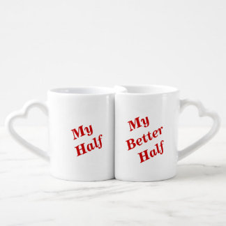 Funny romantic text lovers mug sets