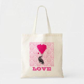 Funny romantic valentines love tote bag