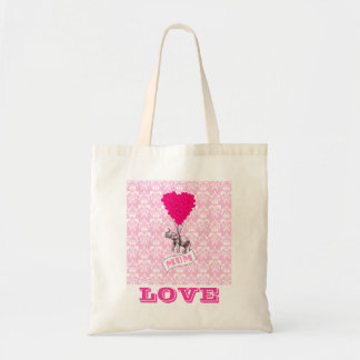 Funny romantic valentines love budget tote bag