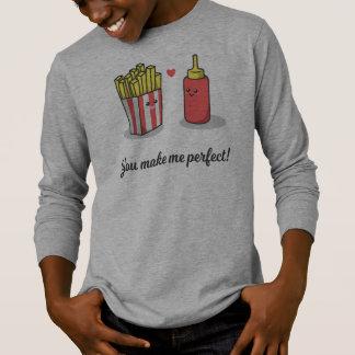 Funny Romantic You Make Me Perfect | Sleeve Shirt