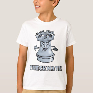 Funny rook chess piece (cartoon) checkmate! T-Shirt