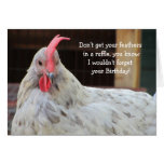 Funny Rooster Birthday Greeting Card