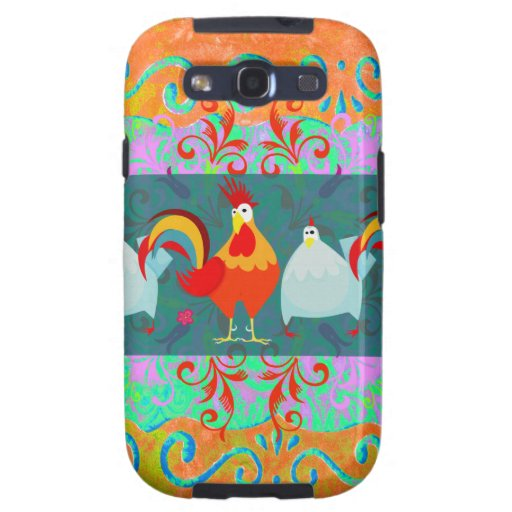 Funny Rooster Hen Funky Chicken Farm Animal Gifts Galaxy SIII Cases